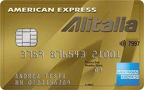 Anteprima della carta Alitalia Oro dell'American Express
