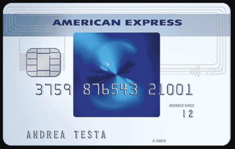 Anteprima della carta di credito Carta Blu American Express