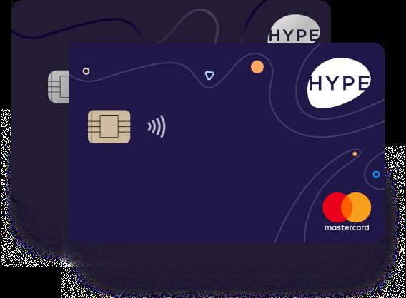 Anteprima della carta di credito Hype | Carta di credito senza conto corrente