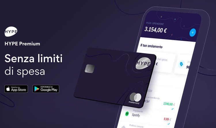 hype premium carta limiti
